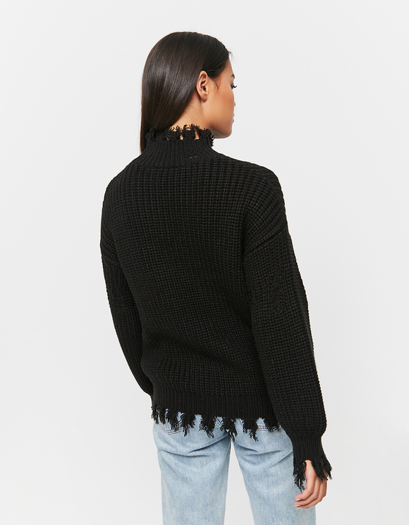 Black Destroyed Jumper