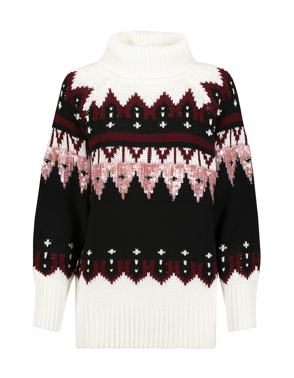 Printed Raglan Jumper with Sequins