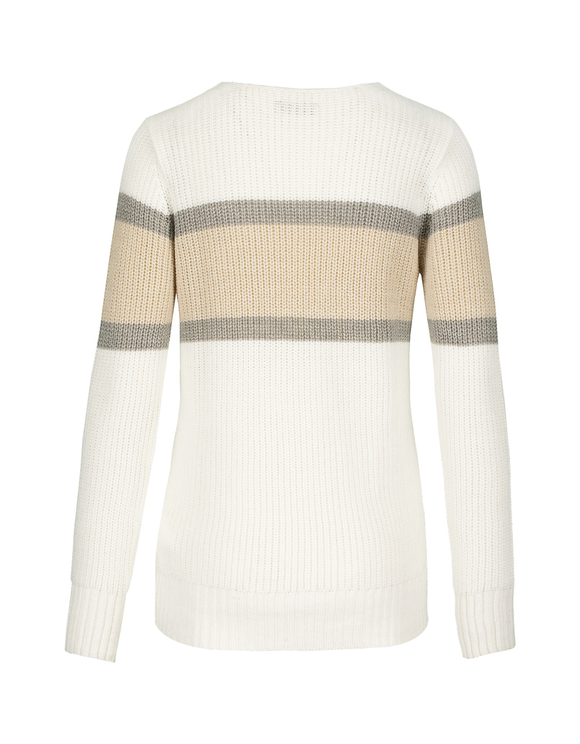 Beige & White Jumper
