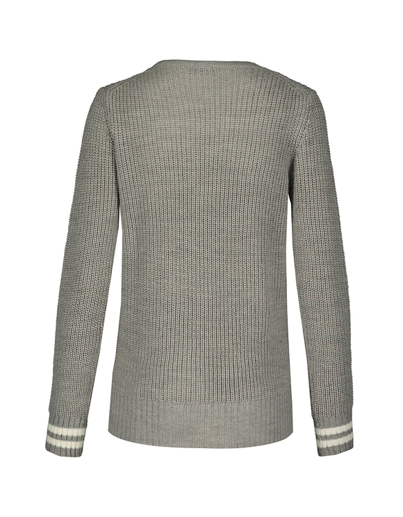 Grey & White Jumper