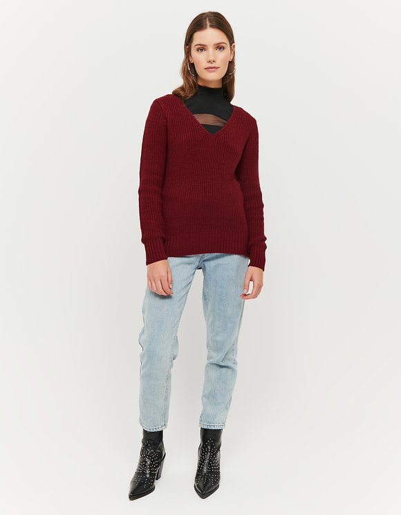 Burgundy Jumper