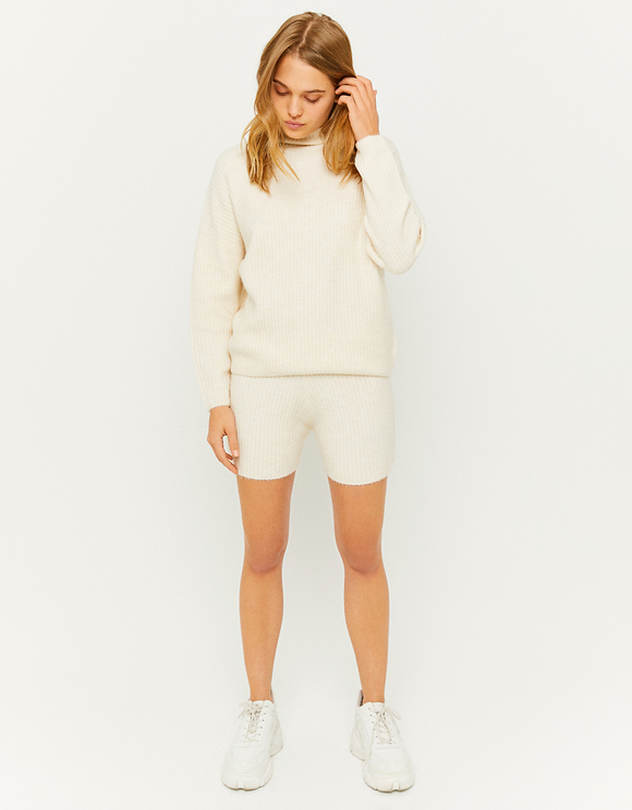 Off White Ribbed Jumper
