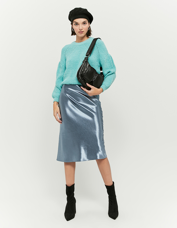 Green Balloon Sleeves Jumper