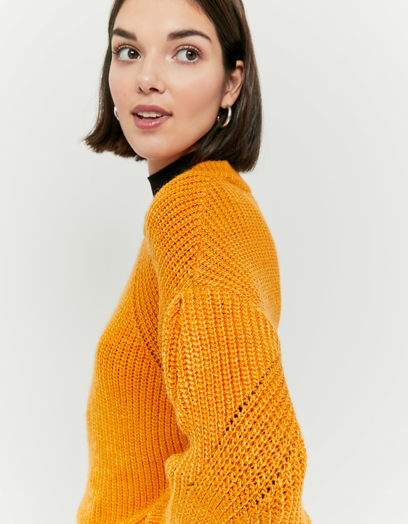 Yellow Balloon Sleeves Jumper