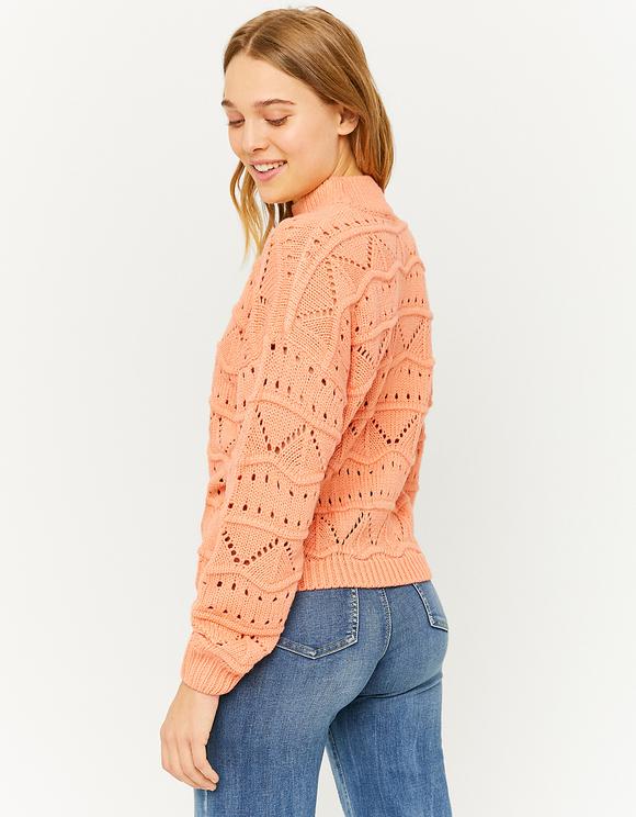 Pull Pointelle Orange