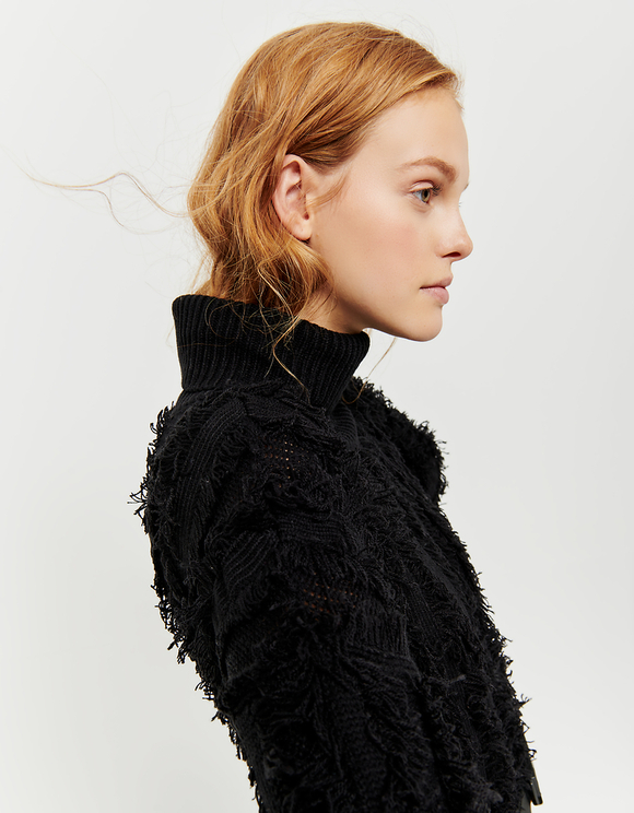 Black Jumper with Fringes