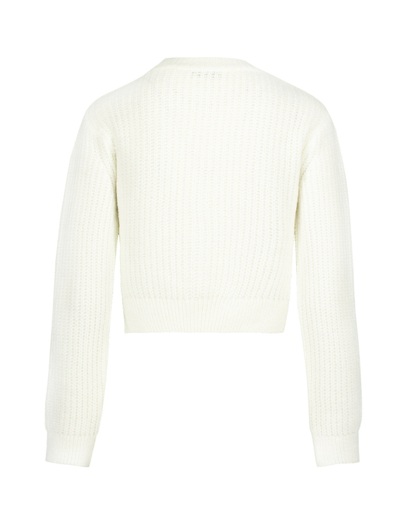 White Knotted Jumper