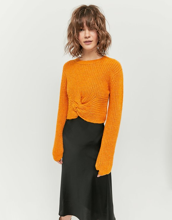 Yellow Knotted Jumper