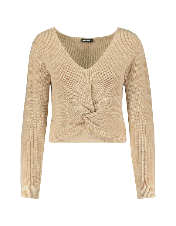 Beige Twisted Jumper