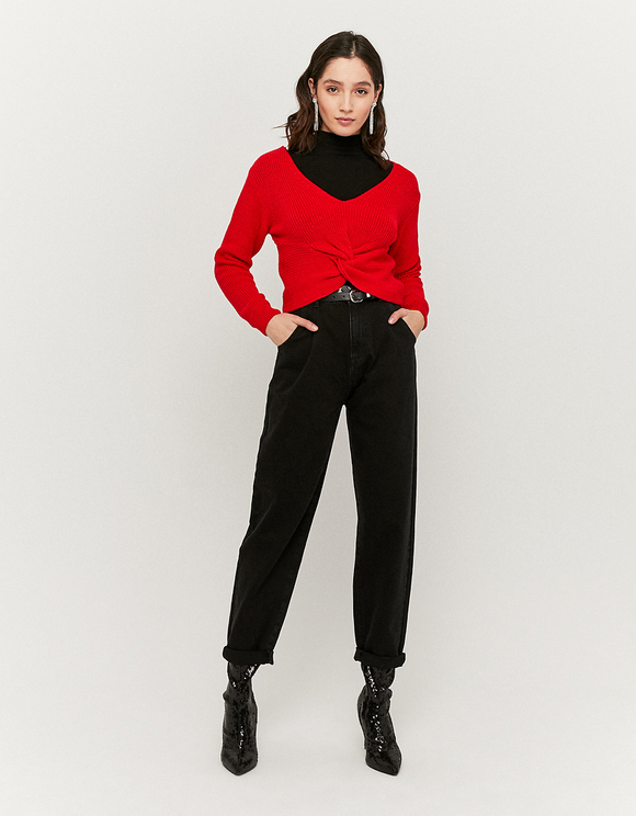 Red Twisted Jumper