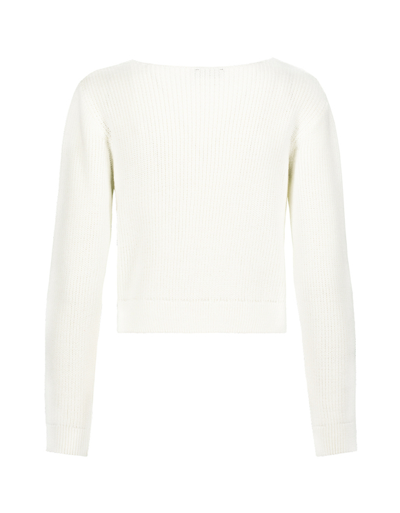 White Twisted Jumper