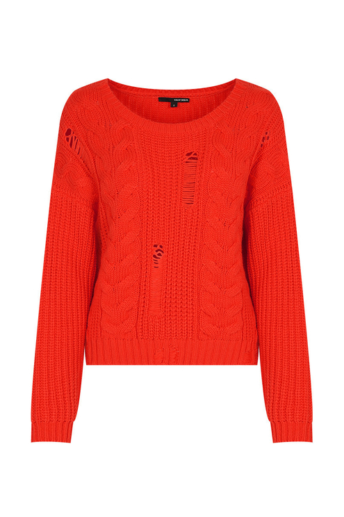 Orange Red Knit Jumper