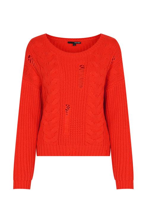 Orange Red Knit Jumper