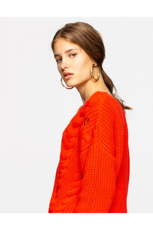 Pullover Rosso Destroyed