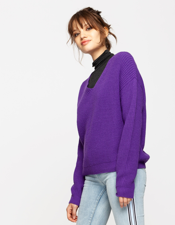 Purple Knitted Jumper