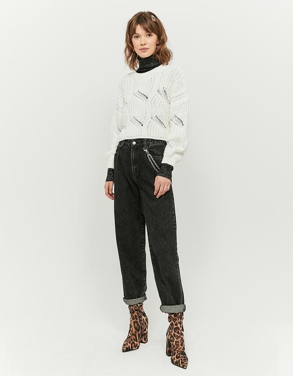 Biały sweter Cropped