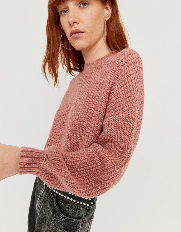 Pink Ballon Sleeve Jumper