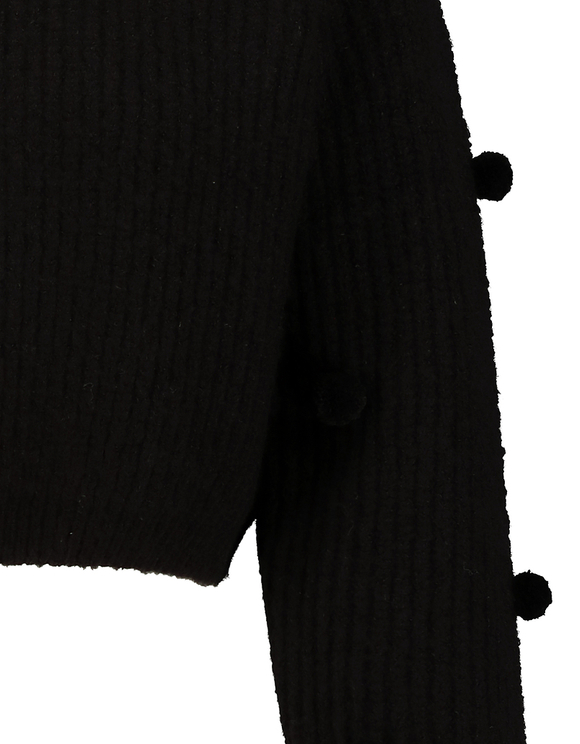 Black Jumper with Pompom