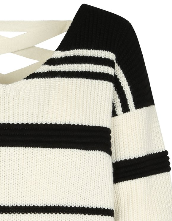 Monochrome Open Back Jumper