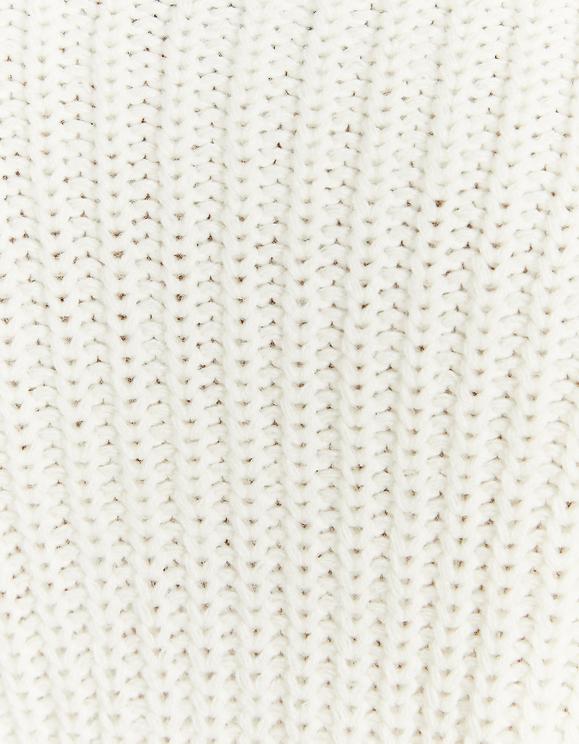 Pull Blanc à Col montant