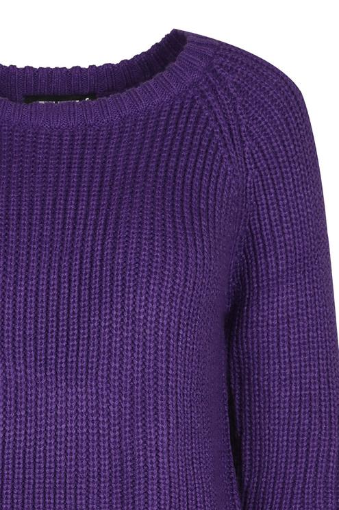 Purple Scallop Jumper