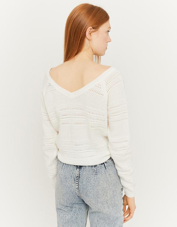 Pull Blanc à Nouer