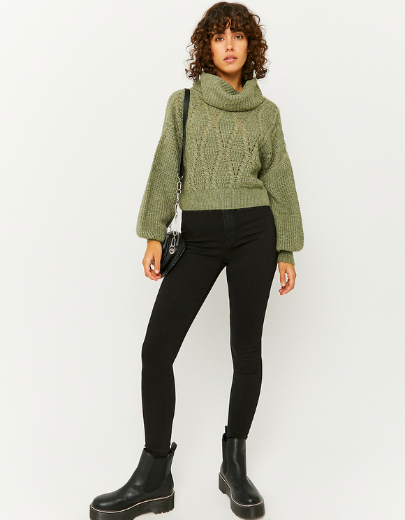 Green Cropped Jumper