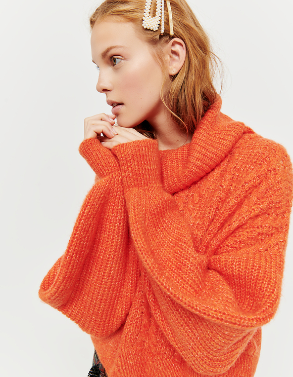 Orange Cropped Jumper