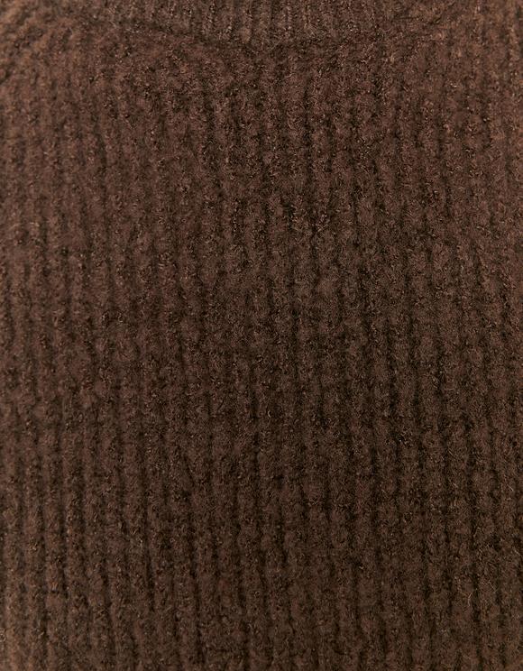 Brauner Pullover mit Stehkragen