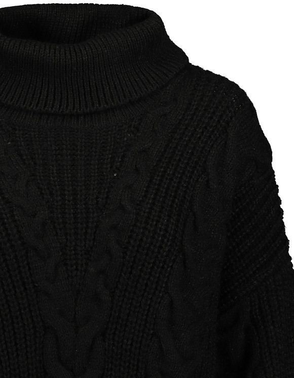 Black Cable Knit Jumper