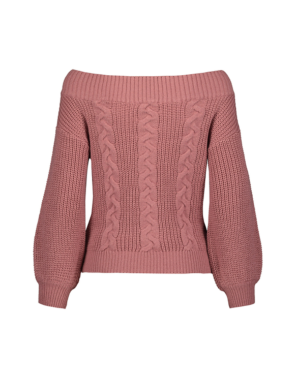 Pink Off-Shoulder Jumper