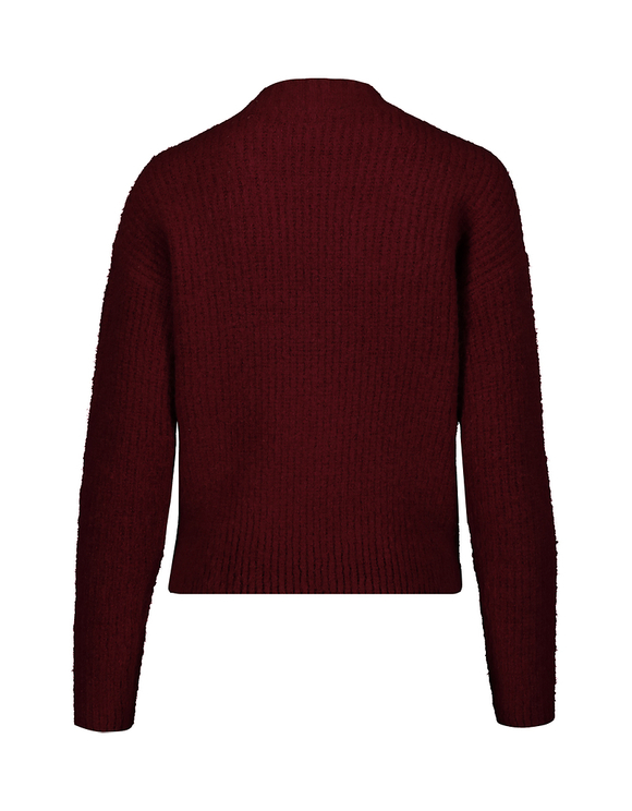 Burgundy V-Neck Jumper