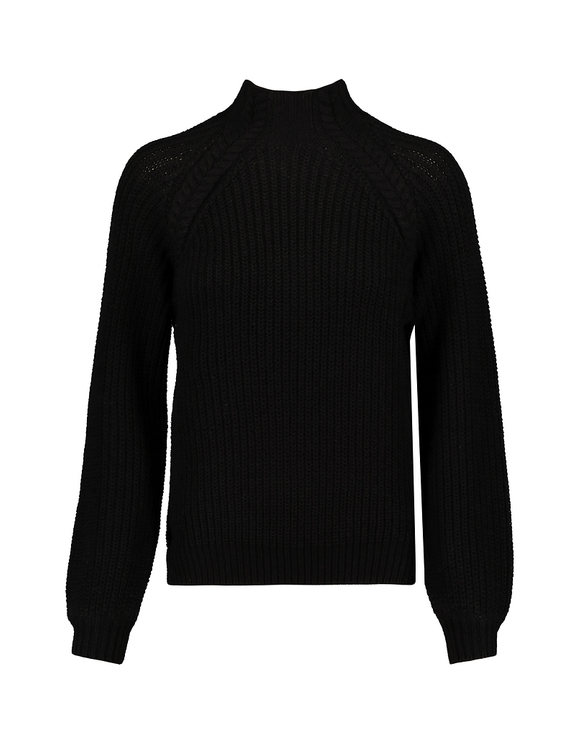 Black Jumper with Mock Neck
