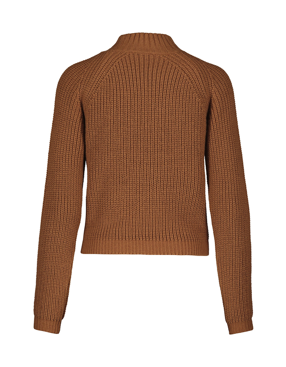Brown Ribbed Jumper