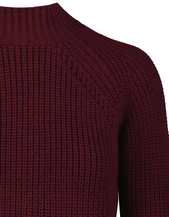 Burgundy Ribbed Jumper