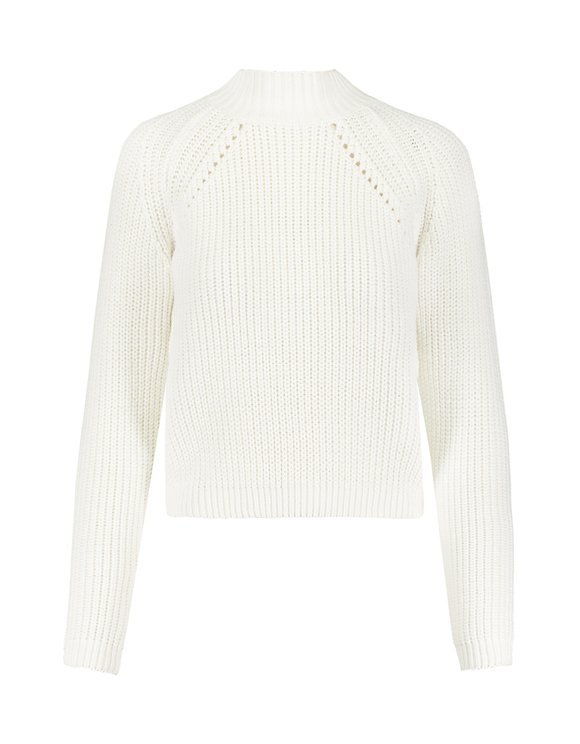 White Ribbed Jumper