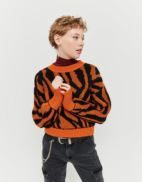 Orange Animalier Jumper