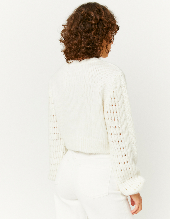 Beige Jumper with Embroideries