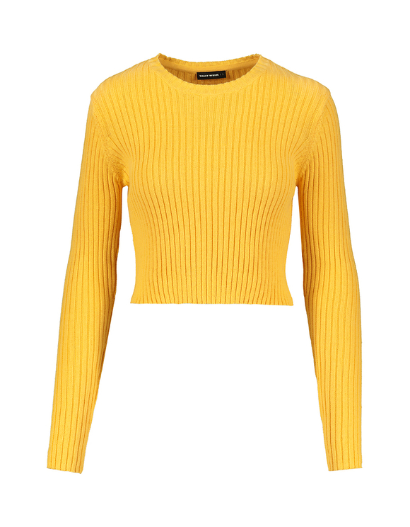 Fine Knit Cropped Jumper