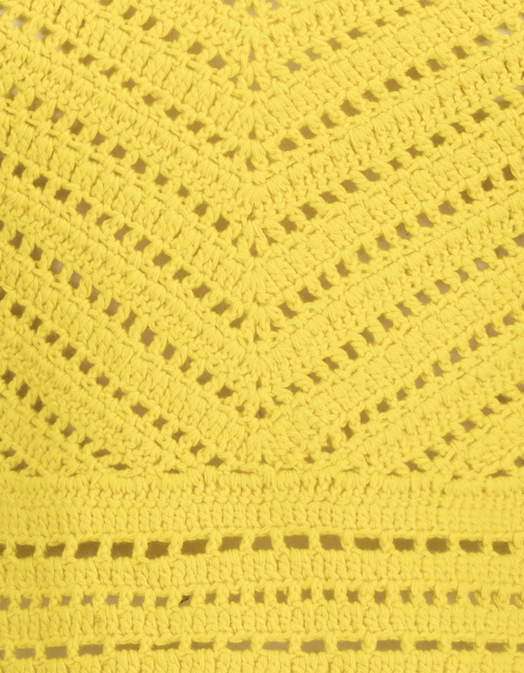 Yellow Crochet Top