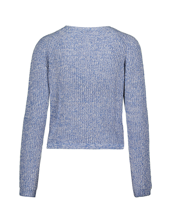 Blue Raglan Jumper with Drawstring