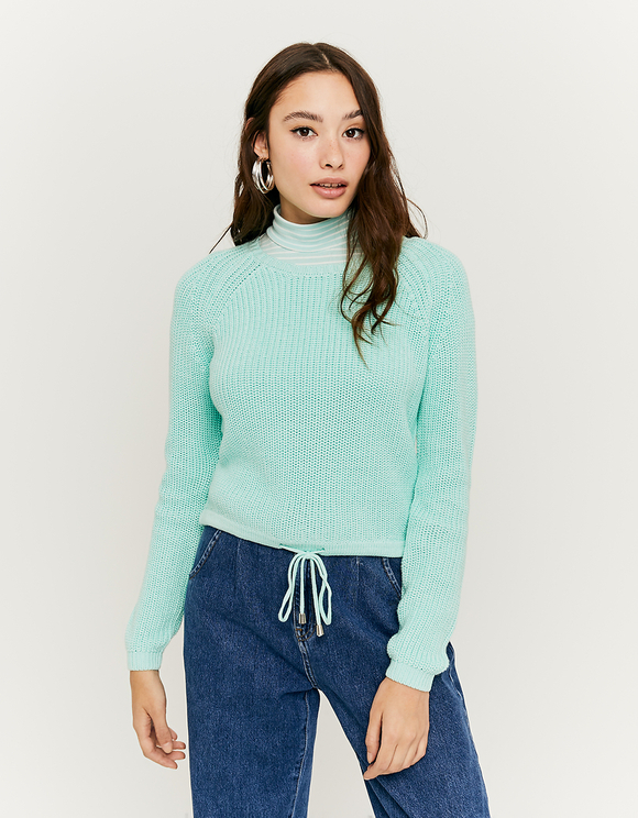 Green Jumper with Drawstring