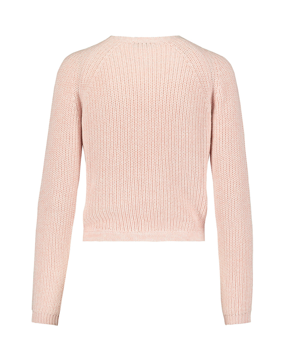 Pink Raglan Jumper with Drawstring