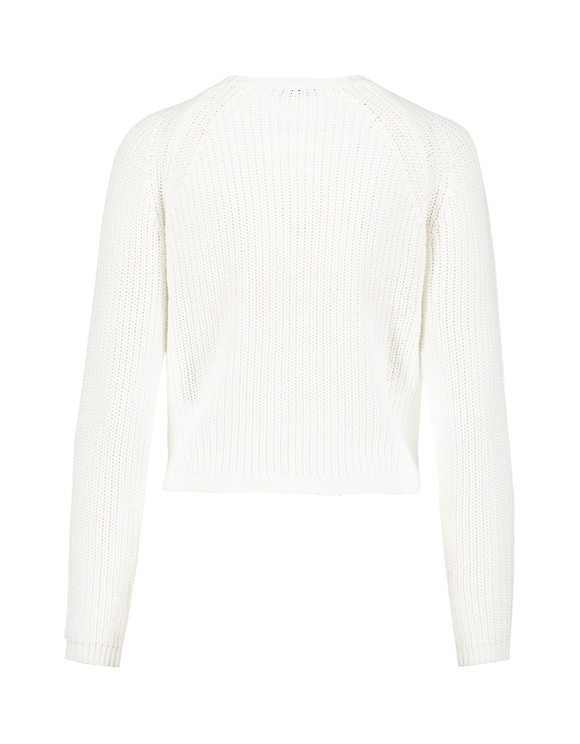 White Raglan Jumper with Drawstring