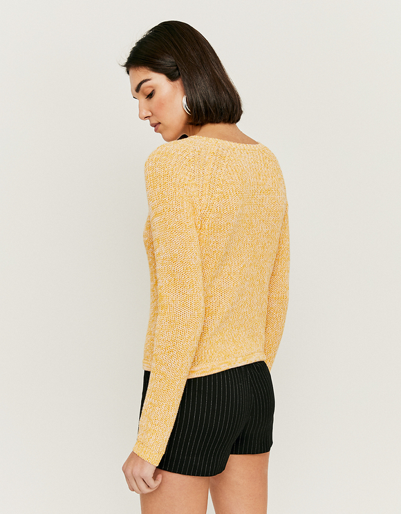 Yellow Jumper with Drawstring
