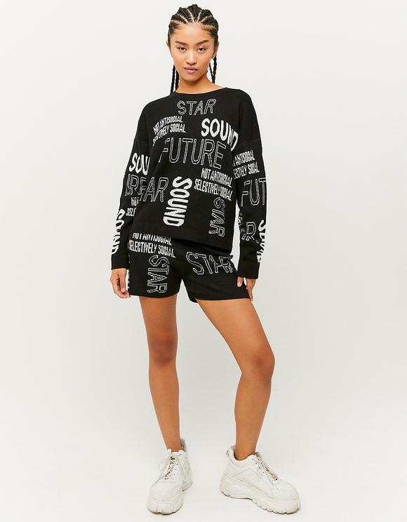 Bedruckter Pullover