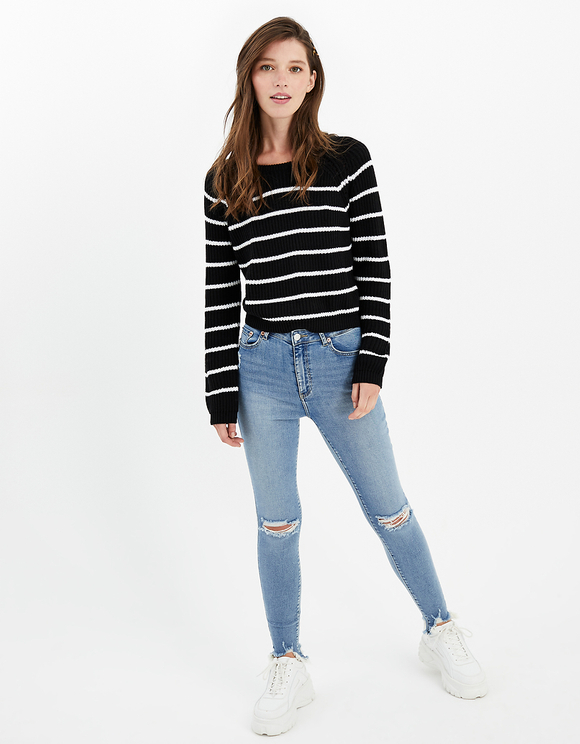 Striped Knitted Jumper