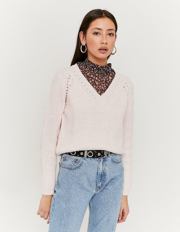 Pink Pointelle Jumper