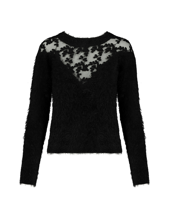 Black Jumper with Lace