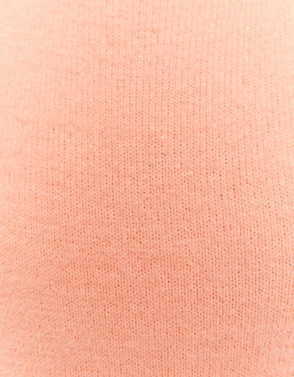 Orange Balloon Sleeve Soft Jumper